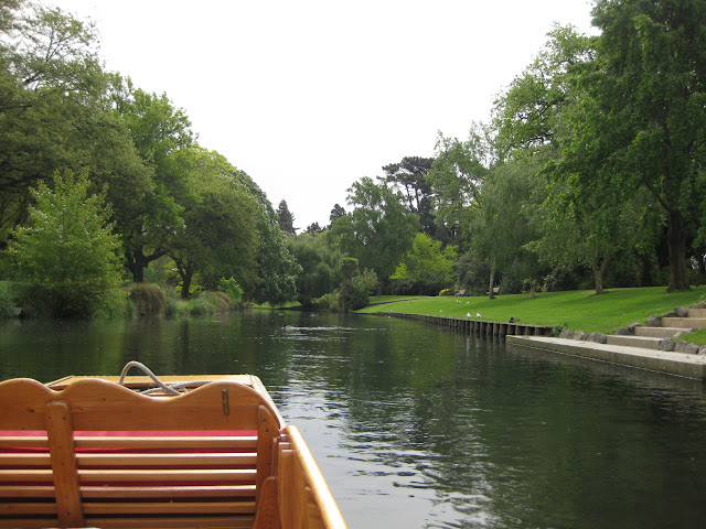Punting on the River Avon in Christchurch