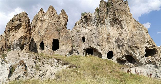 Near East: Rock hewn Byzantine Monastery in need of restoration