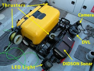 Underwater robot detects bombs and limpet mines