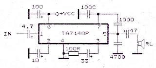 circuit diagram low power amplifier with ic ta7140 rh schemtitic blogspot com