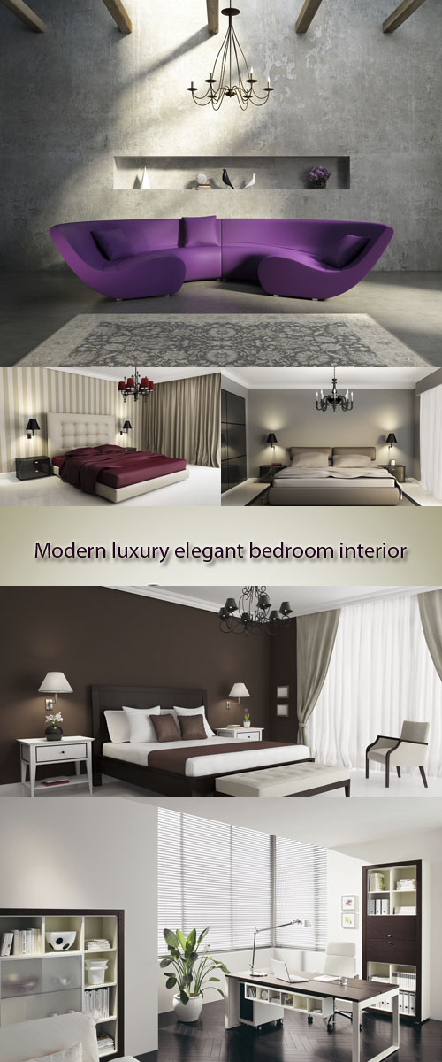 Stock Photo: Modern luxury elegant bedroom interior