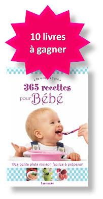 jeu concours livre 365 recettes pour bébé à gagner