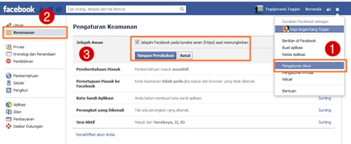 secure browsing facebook