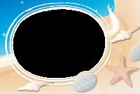 molduras-para-fotos-gratis-praia-areia