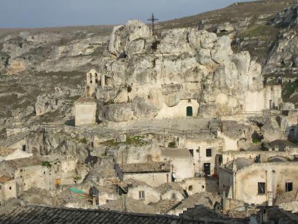 Sassi-Höhlen in Matera, Basilikata, Italien