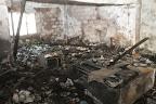 Les matériels du bureau consumés après un incendie au secrétariat exécutif provincial de la Ceni à Kinshasa. Radio Okapi/ph. J. Bompengo.