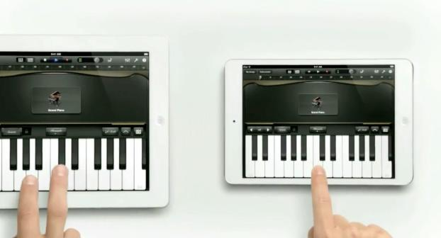 "Apple iPad Mini with Big Brother iPad in ""Piano"" Ad"
