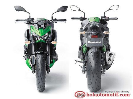 New Kawasaki Z800 desain depan belakang