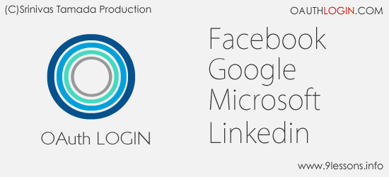 Login with Facebook and Google.