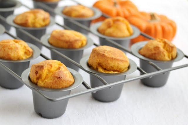 photo of Pumpkin Popovers in a popover pan