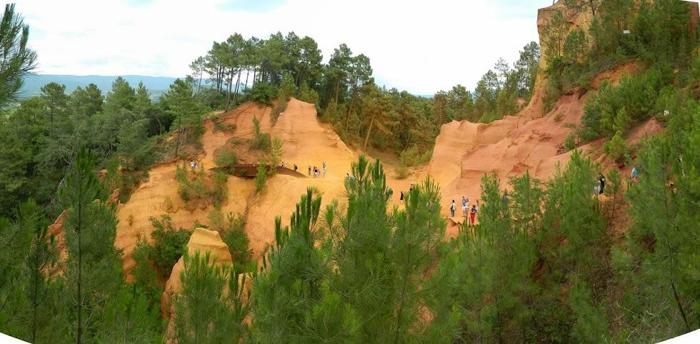 Le cave di ocra a Roussillon