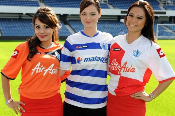Queens Park Rangers Air Asia Malaysia Airlines