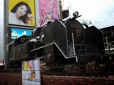 新橋駅前のSL広場の機関車