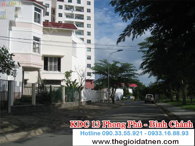 KDC 13   14 Bán gấp đất nền nhà phố KDC 13C, Bình Chánh giá 14.5 tr/m2