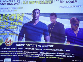 "L'affiche du spectacle ""Peace One Day"". Radio Okapi/Ph. Jean-Marc Matwaki Mofelele."