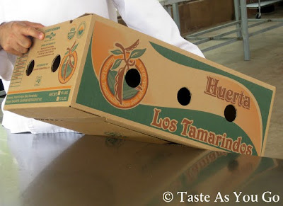 Branded Packing Box at Los Tamarindos in Los Cabos, Mexico - Photo by Taste As You Go