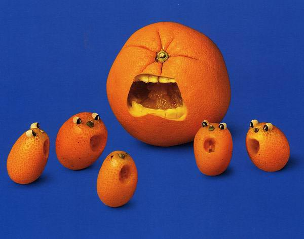 Food Art - Orange Faces