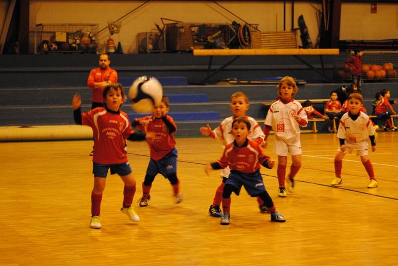Instante do partido de biberóns Numancia - EF Cabanas da pasada temporada (29/01/2013)