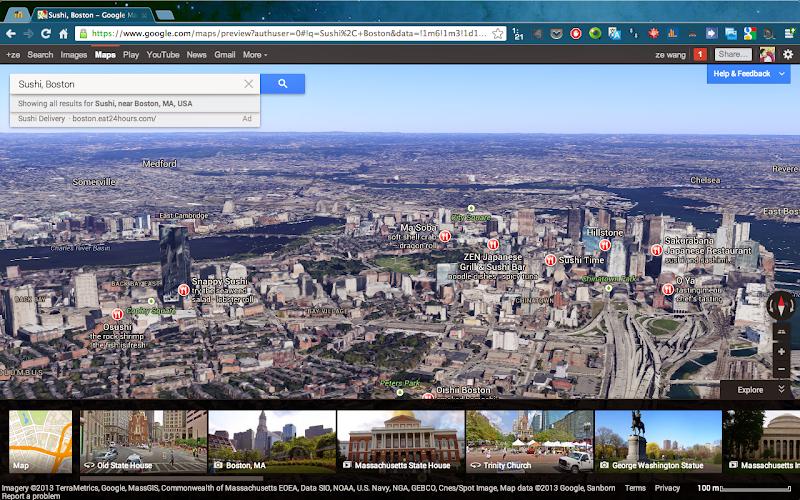 波士顿的 3D 建筑