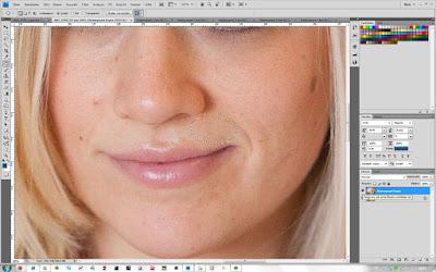 Ausbessern-Werkzeug - Schritt 3 in Photoshop