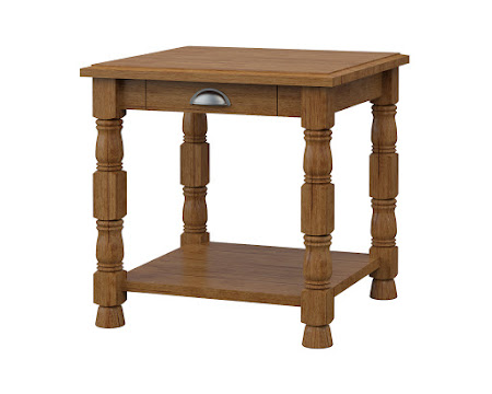 Devonshire End Table in Como Maple