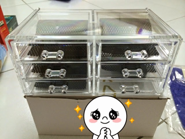 9 Drawers Cosmetic Organizer Clear Acrylic Makeup Case Box Jewelry Storage Premium Set High Quality