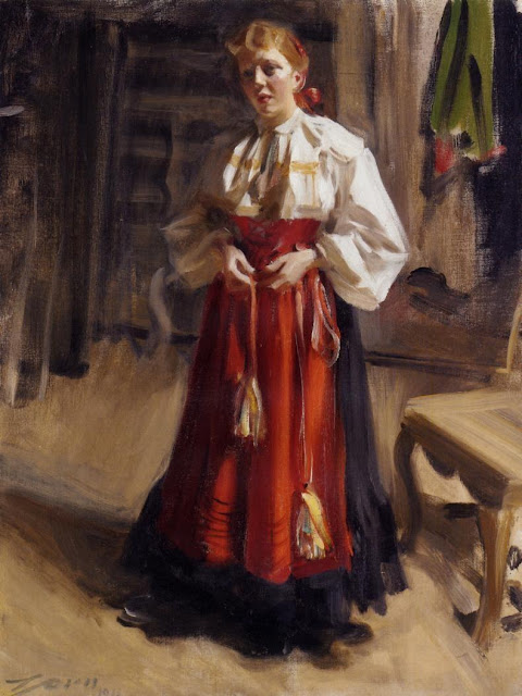 Anders Zorn - Girl in an Orsa Costume