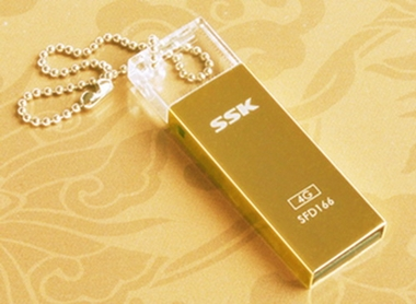 USB SSK SFD166 mạ Vàng
