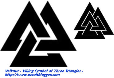 Valknut Viking Symbol Of Three Interlocking Triangles Image