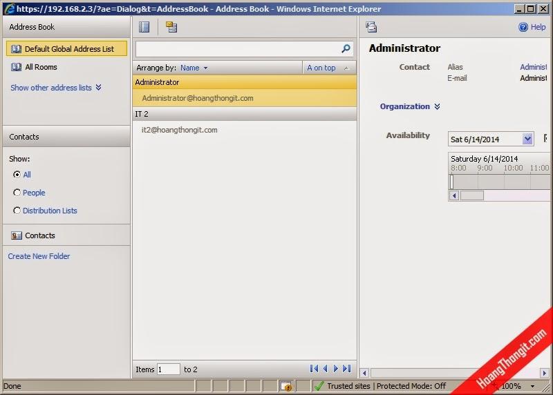 Không cho phép hiển thị địa chỉ mail trong address book