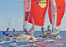 J/24s Barbados sailing ISAF Nations Cup qualifier