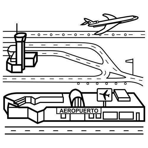 Pinto Dibujos: Aeropuerto Para Colorear