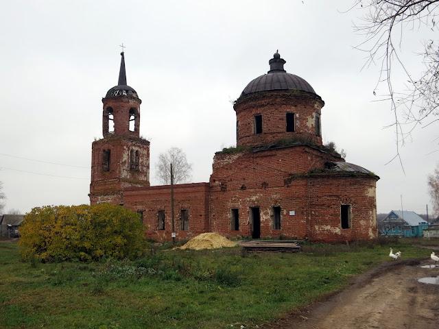 церковь Спаса Нерукотворного село Лапшово