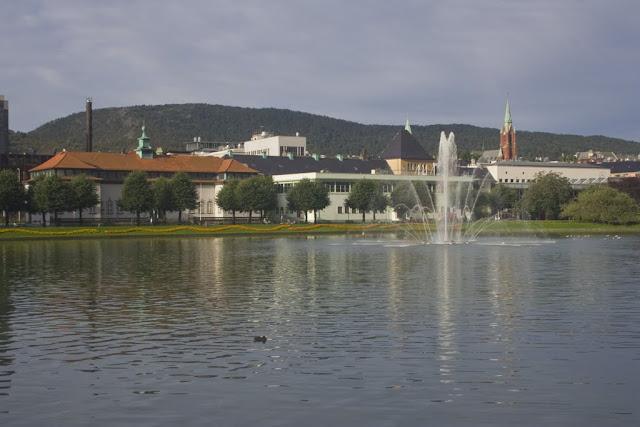 El centro de Bergen, Noruega