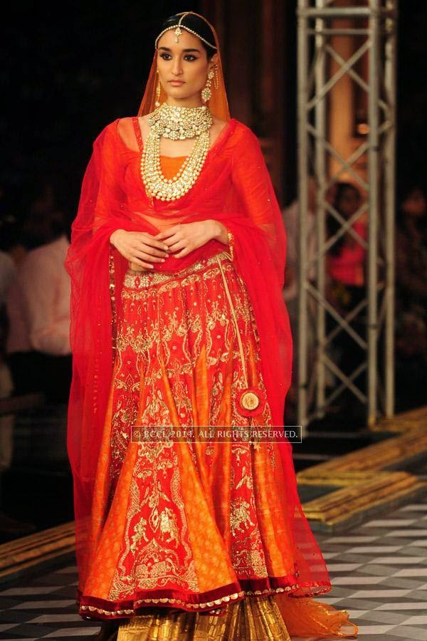 Kanishtha walks the ramp for Shree Raj Mahal Jewellers on Day 6 of India Couture Week, 2014, held at Taj Palace hotel, New Delhi.