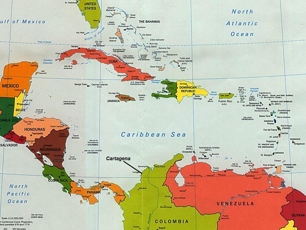 Eating Chilean Eating Caribbean Cartagena De Indias Colombia - Cartagena de indias map