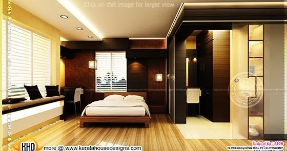 Traditional luxury house keralahousedesigns for Bedroom designs with attached bathroom and dressing room