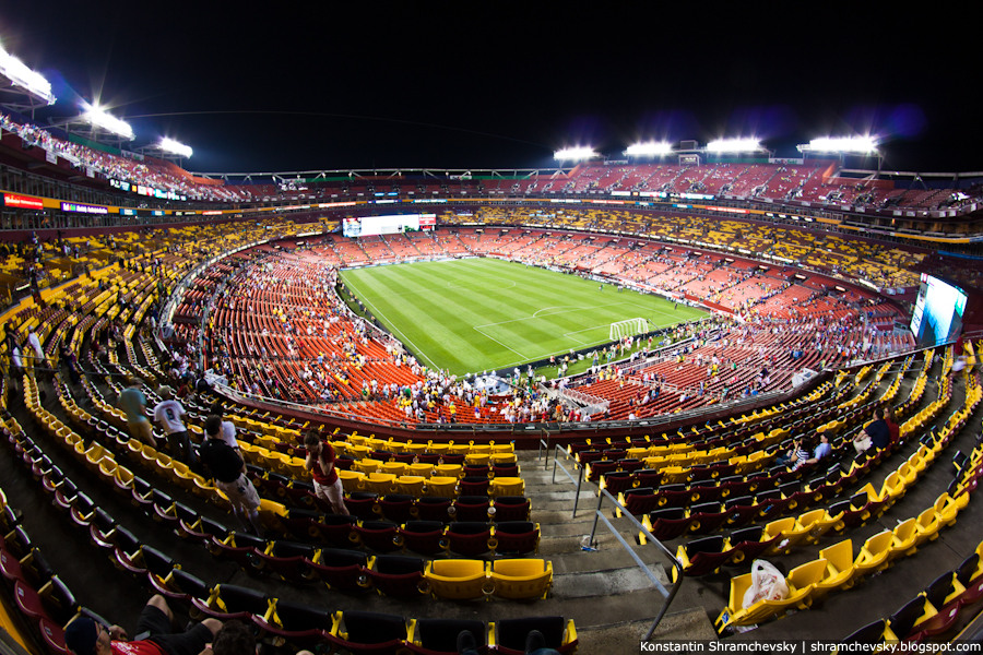 USA Maryland Landover FedEx Field Stadium Washington Redskins Soccer USA Brazil США Мэриленд Лендовер Федекс Филд Стадион Соккер Вашингтон Редскинс Американский Футбол США Бразилия