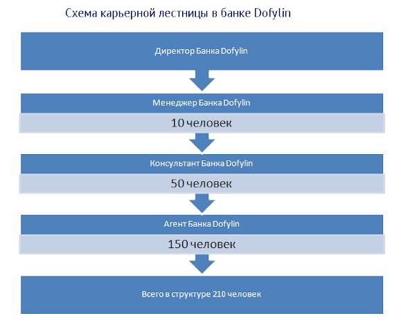 Схема карьерной лестницы в банке Dafylin