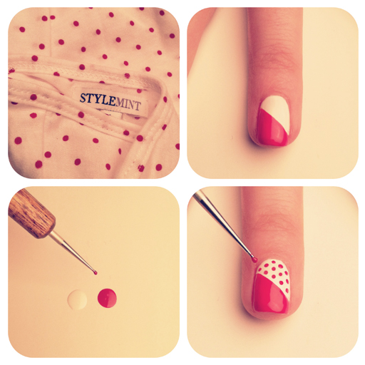 Simple and cute dots thats easy to make and also gives a clean look.
