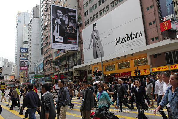hong kong city crowds, hong kong times square, hong kong top attractions, hong kong images, population in hong kong china,