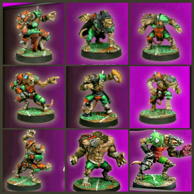 Meiko Miniatures Ratmens para Blood Bowl