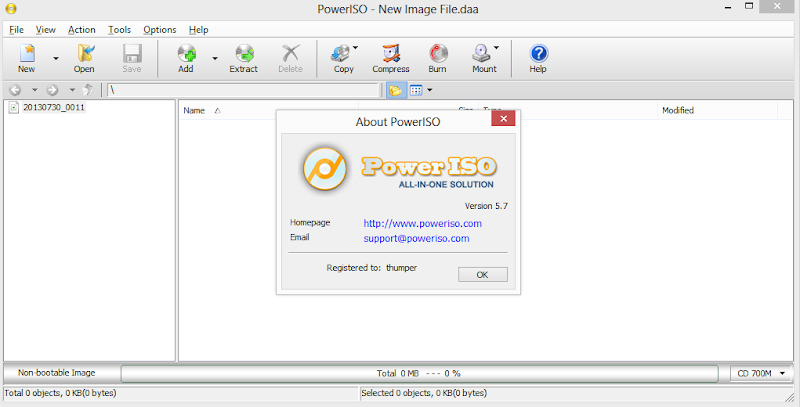 Screenshot of PowerISO v.5.7 With Serials CD DVD Tools PC Software Free Download at Alldownloads4u.Com