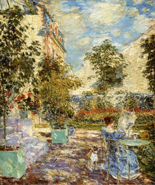 Childe Hassam - In a French Garden