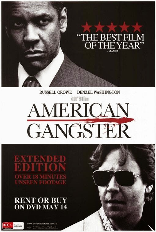 Poster Of American Gangster (2007) Full Movie Hindi Dubbed Free Download Watch Online At Alldownloads4u.Com