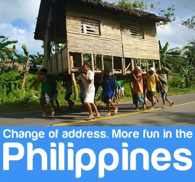 Change of Address. More Fun in the Philippines.