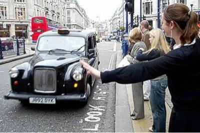 fake london taxi