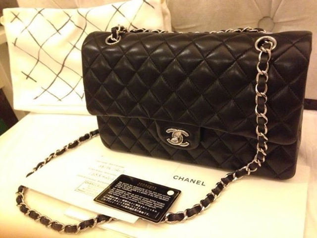 Chanel Classic Quilted Flap Medium Lambskin with Silver hardware