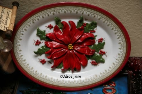 Creative Art And Craft M Seal Flowers On A Plate