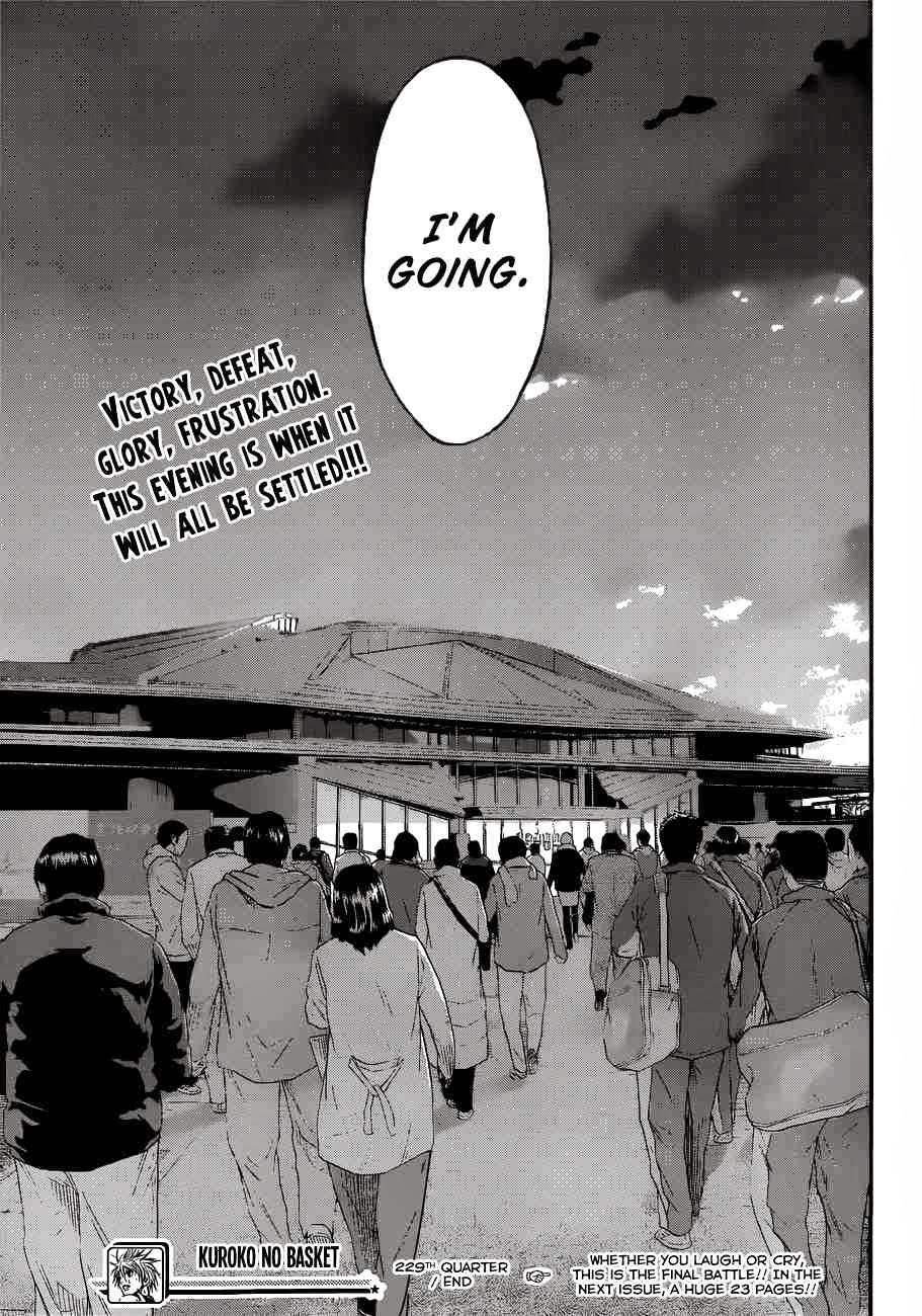 Kuroko no Basket Manga Chapter 229 - Image 21